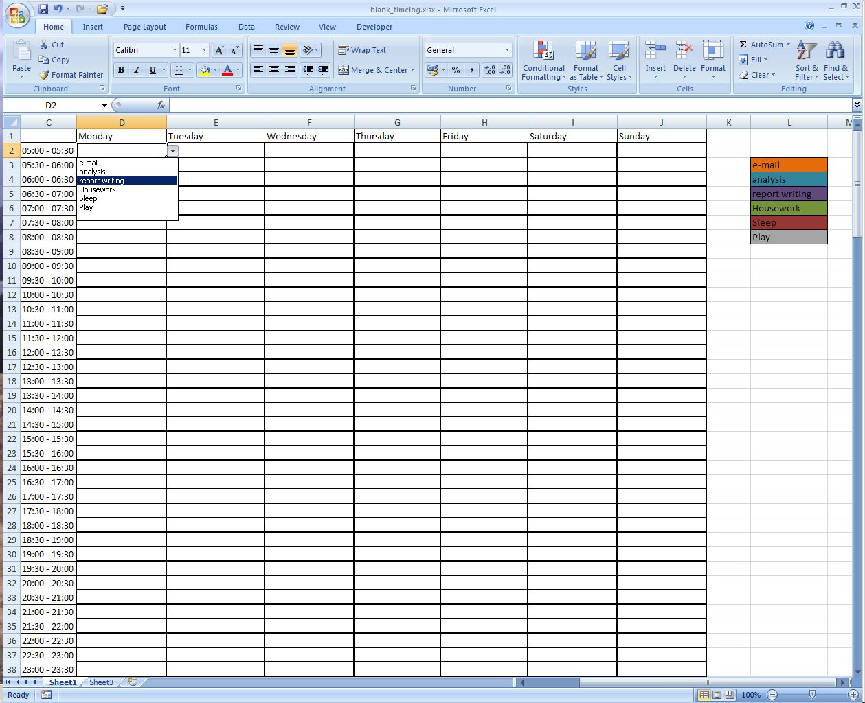 Time Log Sheet Excel Yelomdiffusion