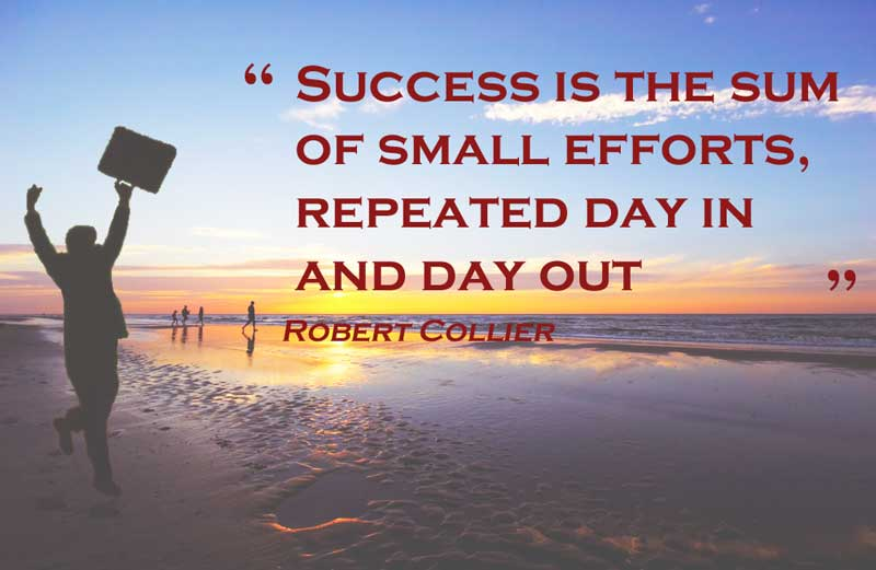 Success is the sum of small efforts, repeated day in and day out aka habits